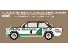 "Decal -  Fiat 131 Abarth ""Alitalia"" - 1978 Portugal / Rallye Tour de Corse winner"