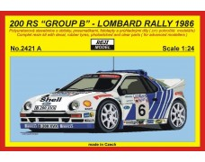 "Kit – RS 200 ""Official"" - 1986 Lombard rally - # 2 Blomqvist / # 6 Grundel"