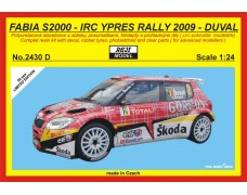 Kit – Fabia S2000 Rally Ypres  2009 - Duval - LIMITED EDITION