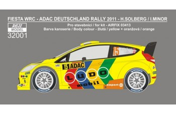 Decal – Ford Fiesta WRC - Deutschland rallye 2011 – Solberg H./ Minor