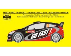 Decal – Ford Fiesta WRC - Rallye Monte Carlo 2012 – Solberg H./ Minor