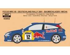 Decal – Ford Focus WRC 00 Rally Deutschland 2001