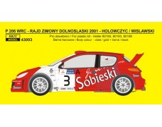 Decal – Peugeot 206 WRC Rally Emot 2001