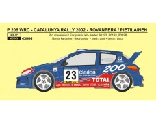 Decal – Peugeot 206 WRC Rally Catalunya 2002