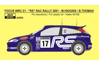 Decal – Ford Focus WRC 01 RAC rally 2001