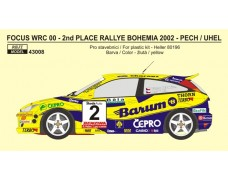 Decal – Ford Focus WRC  - Barum team 2002