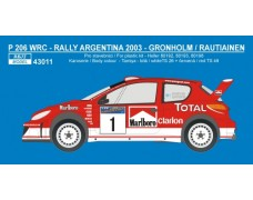 Decal – Peugeot 206 WRC 2003 - Rally Argentina 2003