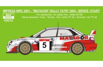 Decal – Subaru Impreza WRC 2002 - Matador rally team 2003