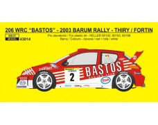 "Decal – Peugeot 206 WRC ""Bastos"" – B.Thiry  2003"