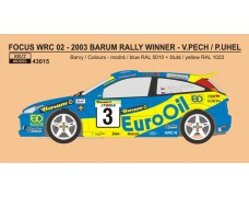 Decal – Ford Focus WRC 02 EURO OIL Rally team 2003