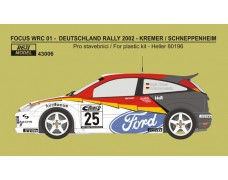 Decal – Ford Focus WRC 01 - Rally Deutschland 2002