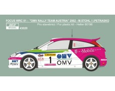 Decal – Ford Focus WRC 01 OMV Rally team 2002