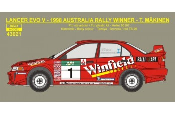 Decal – Mitsubishi Lancer Evo V -> Rally Australia 1998