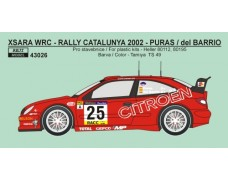 Decal – Citroen Xsara WRC - Rally Catalunya 2002