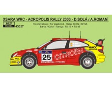 Decal – Citroen Xsara WRC Rally Acropolis 2003