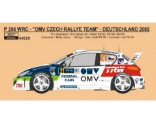 "Decal – Peugeot 206 WRC ""OMV"" Rally Šumava / Deutschland 2005"