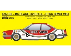 "Decal – BMW 635 CSi  ""LUCKY STRIKE"" - ETCC – GP Brno 1983"