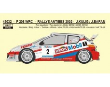 "Decal – Peugeot 206 WRC ""Mobil 1""  - Rally Antibes 2002"
