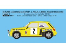 "Decal – Renault  5 Turbo ""AGROTEAM"" - Rallye Teplice 1982"