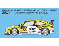 "Decal – Citroen Xsara WRC ""Kronos"" - Deutschland 2007"