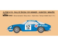 Decal – Alpine A 110  - Rally Škoda 1974