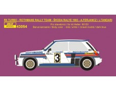 "Decal – Renault 5 Turbo ""Rothmans"" - Škoda Rallye 1983"