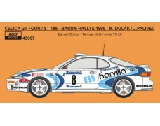 Decal – Toyota Celica ST 185 - Barum Rally 1996