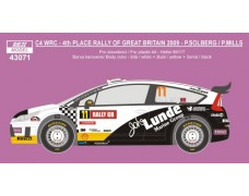 Decal – Citroen C4 WRC - Rally GB 2009 - Solberg P./ Mills