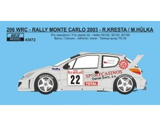 "Decal – Peugeot 206 WRC ""BOZIAN"" - Rally Monte Carlo 2003"