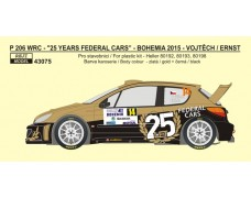 "Decal – Peugeot 206 WRC ""25 years Federal Cars"" - Rally Bohemia 2015"