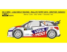 Decal – Citroen DS3 WRC - Rallye Tatry 2015 - Drotár / Bánoci