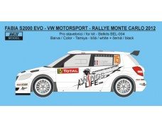 Decal - Fabia S2000 EVO - Rally Monte Carlo 2012 - Ogier / Ingrassia