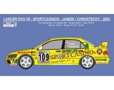 Decal - Mitsubishi Lancer Evo VII - Barum Rally / Deutschland 2003