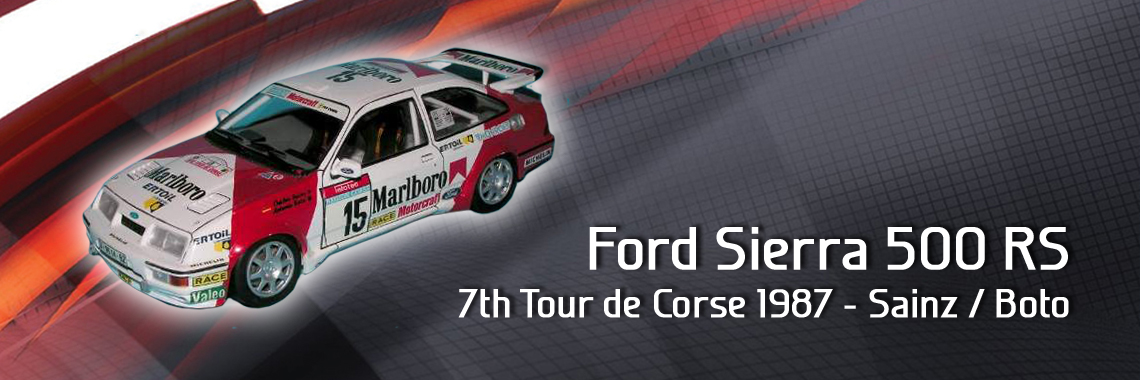 Ford Sierra 500 RS - 7th Tour de Corse 1987 - Sainz / Boto